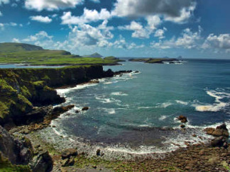 Ring of Kerry Coastal View out to Skellig Michael