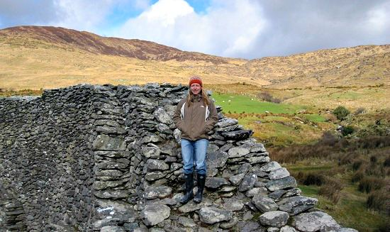 Rachel on top of Staigue Fort