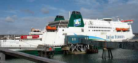 Ferry to Ireland at Dock