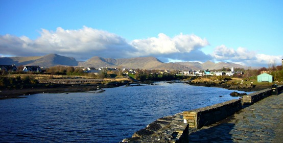 View of Sneem Village, Cottage Ring of Kerry