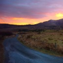 View of the sunset, Cottage Ring of Kerry