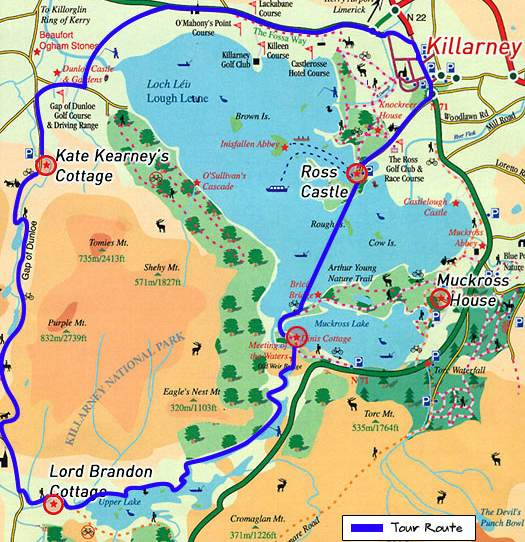 Gap of Dunloe Map
