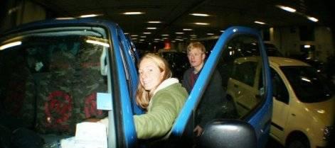 Rachel on the Ferry to Ireland