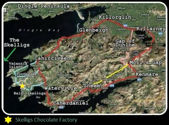 Skelligs Chocolate Factory Map