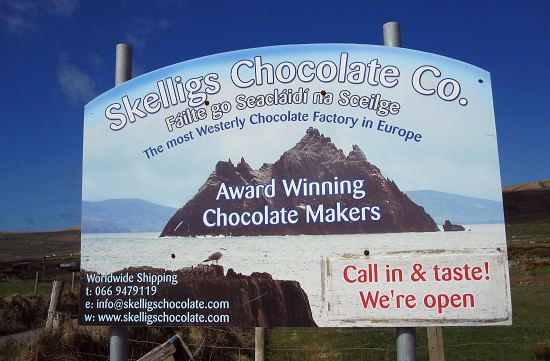 Skelligs Chocolate Factory Sign